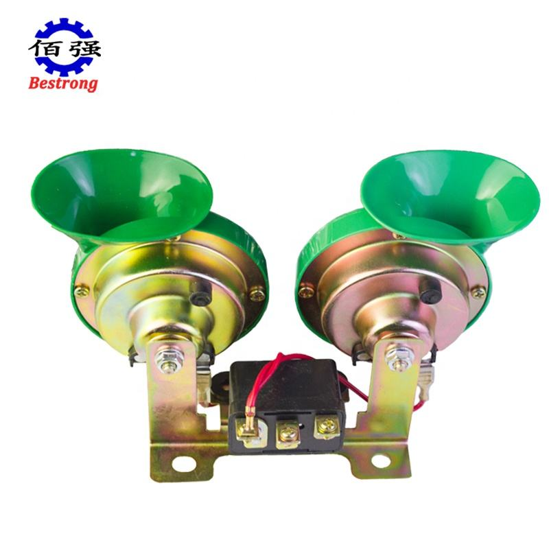 Two-Tone Snail Klaxon Horn With Relay Bracket 12V 24V For Truck Car Agriculture Engineering Vehicle Spare Parts Or Refit