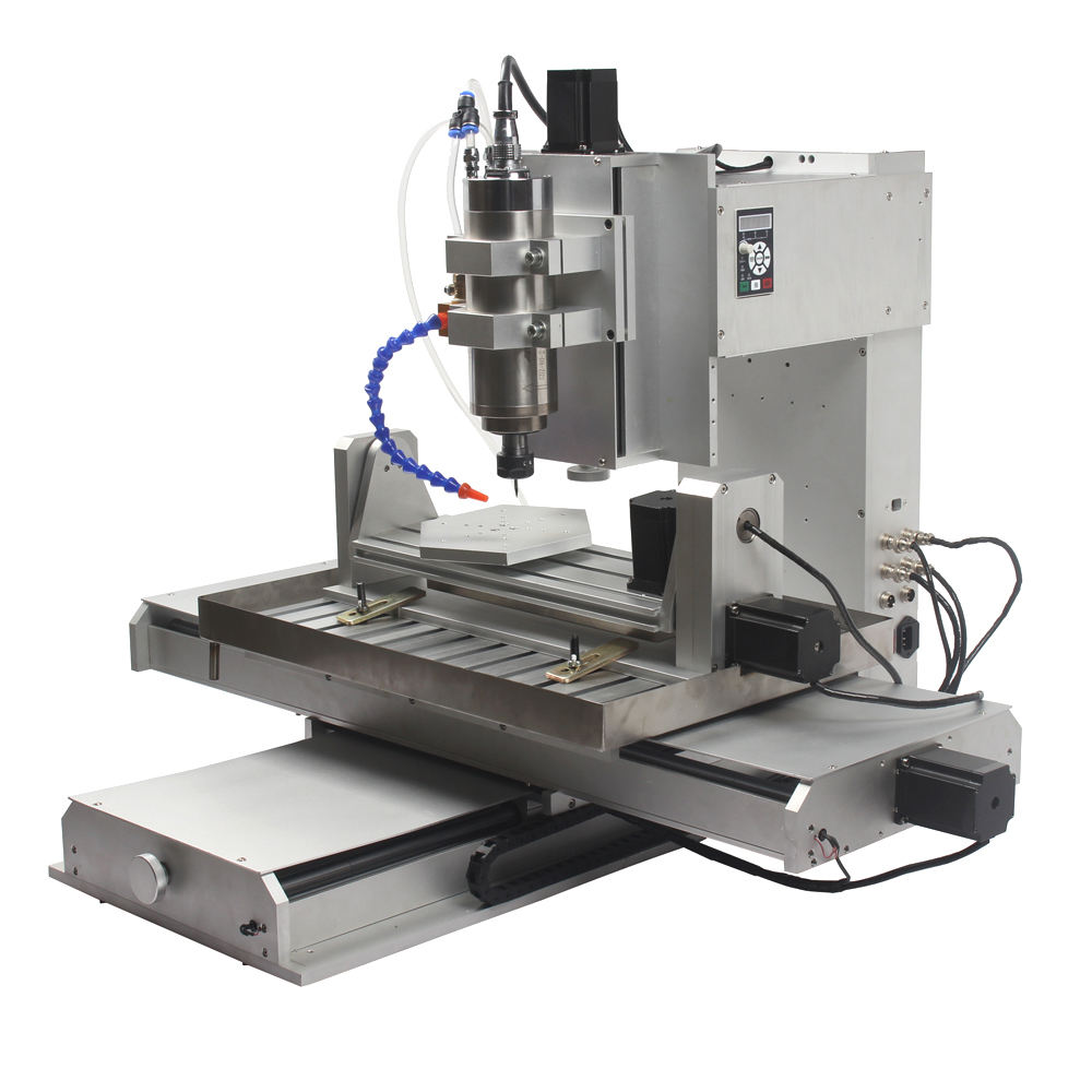 Newest Mach3 USB 5 axis cnc machine HY6040 small 5 axis cnc milling machine 2200W