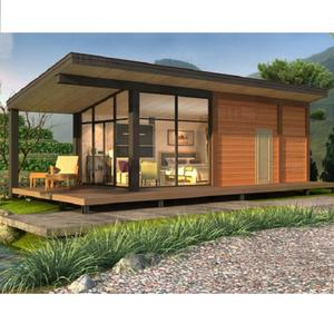 Foshan modern design light steel prefabricated resort bungalows hotel water prefab bungalow