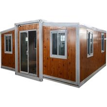 Low cost 2 bedroom foldable container villa house portable expandable luxury container homes