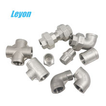 Plumbing materials stainless steel threaded SS304/316 Sanitary pipe fittings Union Elbow for water supply
