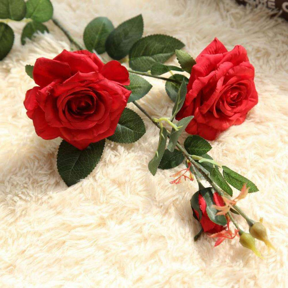 indoor home decoration artificial royal blue rose flowers for sale