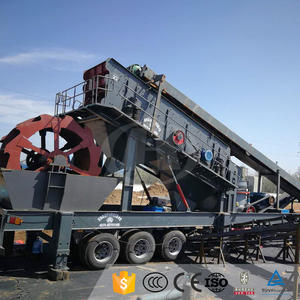 Low Cost River Stone Portable Mobile Cone Crusher Crushing Line