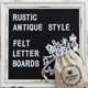 China factory wholesale black felt letter board with rustic white frame