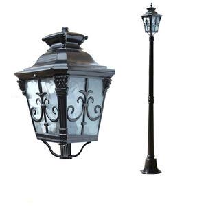 2 M 2.5 M Doble Al Aire Libre Jardín de victoriano camino de iluminación Lámpara Post linterna