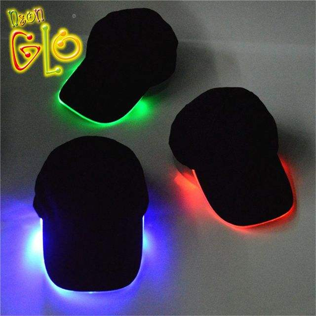 Glow Rave Hat Lighted LED Hat Baseball Cap