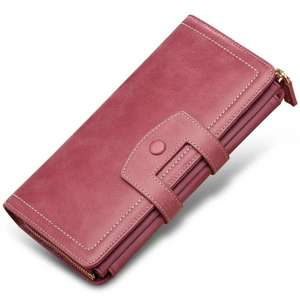 2020 new fashion and high-end grade Helical ridge's lady leather wallet