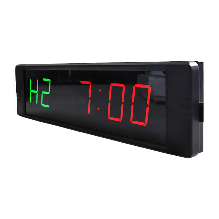 2020 neue Design Wand Digitale LED 6 Digit Rot Grün Display Mini Digital Wanduhr Led