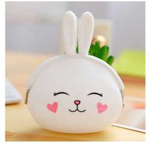 Cute Headphone Case Silicone Earphone Storage Bag Protective USB Cable Organizer Kawaii Portable Girl Coin Purse