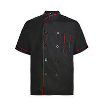 OEM high-quality long-sleeved cross-necked chef system uniforms single-row cooking clothing for the restaurant