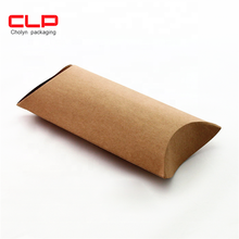CLP Eco Friendly High Quality pillow box Custom towel Kraft Paper Pillow packaging  box