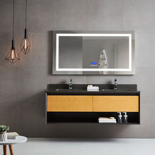 Hot Products Wash Basin Wall Mounted Waterproof  Classical Wooden  Plywood Oak Bathroom Cabinet