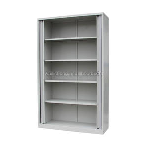Knocked down stainless steel sliding tambour door file cabinet metal filing storage cabinet