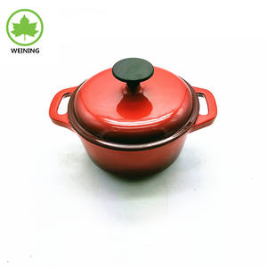 Enameled Cast Iron Casserole With lid, Red