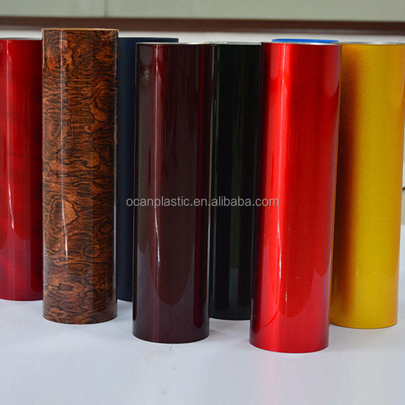 Sparkle Colorato Poliestere PVC Rigido Film Roll per Tamburo Wrap