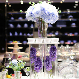 VR150-350 PC plastic flower tall wedding table vase decoration