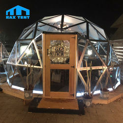 Most Popular in Europe Geodesic Dome Garden Igloo with Glass for Family and Friend Party