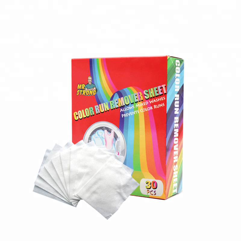 Color run remover sheet for preventing the color runs