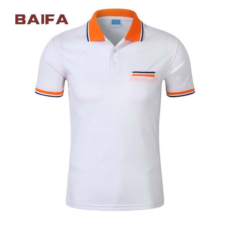 2020 High quality new 100% cotton lie fallow man polo white t-shirt