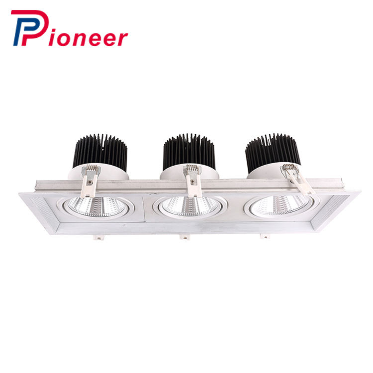 High quality 3 heads led grille light 25w 30w 35w one head led grille light for commercial shop