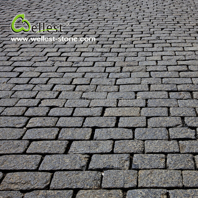 High Quality Top Natural Sides Tumbled Granite Driveway Pavers