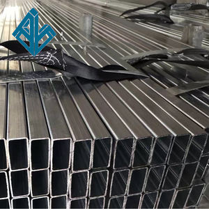 Black ERW iron squared pipe square tubing ASTM 500 construction steel tube
