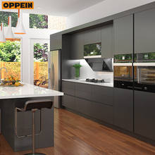 OPPEIN Lacquer Door Finish simple design home kitchens and kitchen furniture