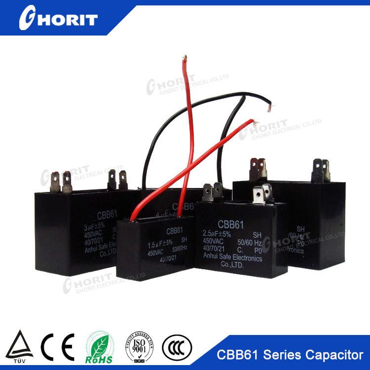 Cbb61 конденсатор 0.8 мкФ 24 мкФ 40 / 70 / 21 50 / 60 Гц запуска генератора подключение двигателя вентилятор конденсатора