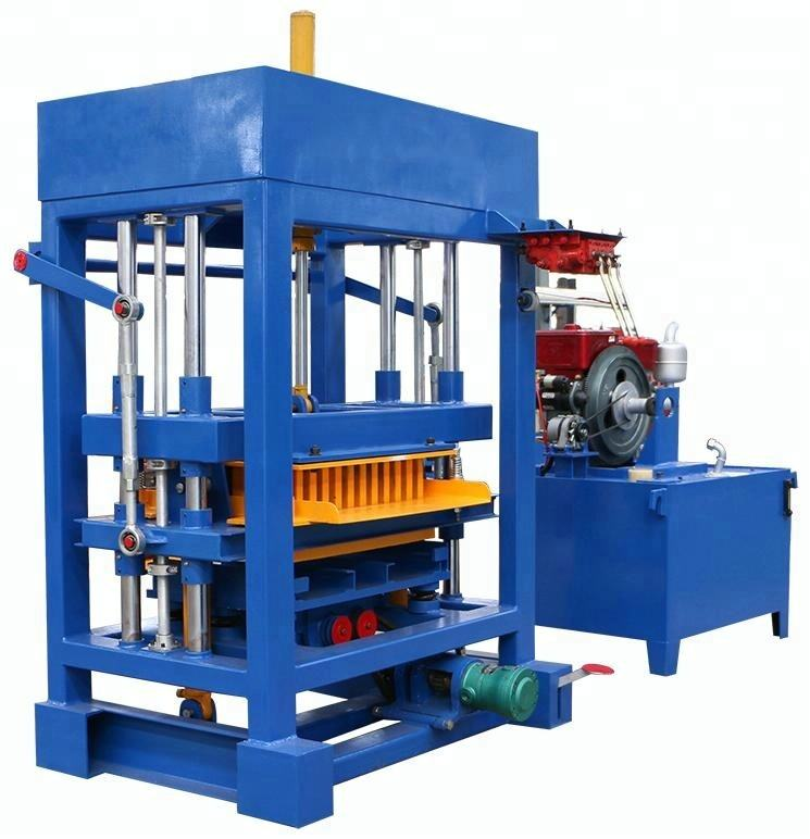 Diesel engine block and brick making machine QT4-30 widely used brick making machine for sale in usa