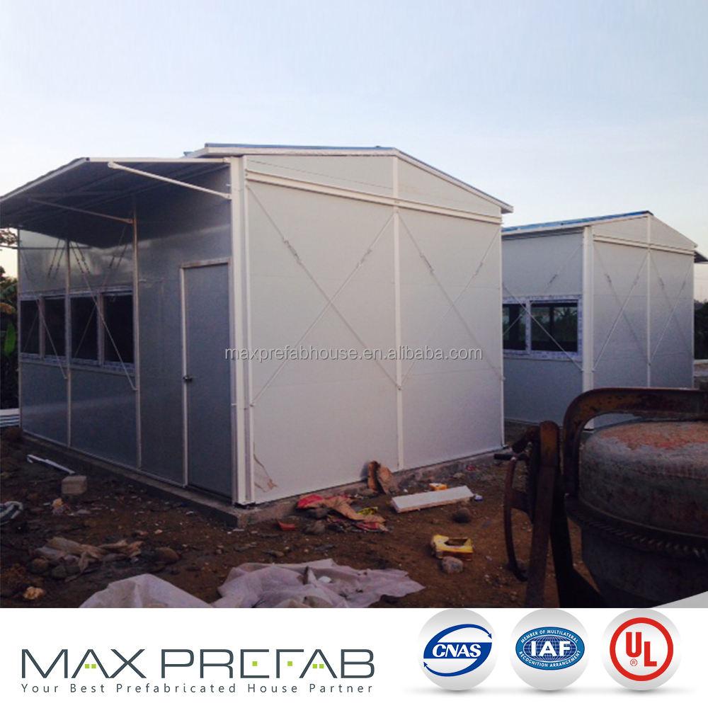 Transparente de cristal único de casas modulares casas para casa de emergencia