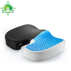 Machine Washable Cover Memory Foam Gel Cushion Seat, Office Chair Memory Foam Gel Cushion, Massaging Gel Cushion