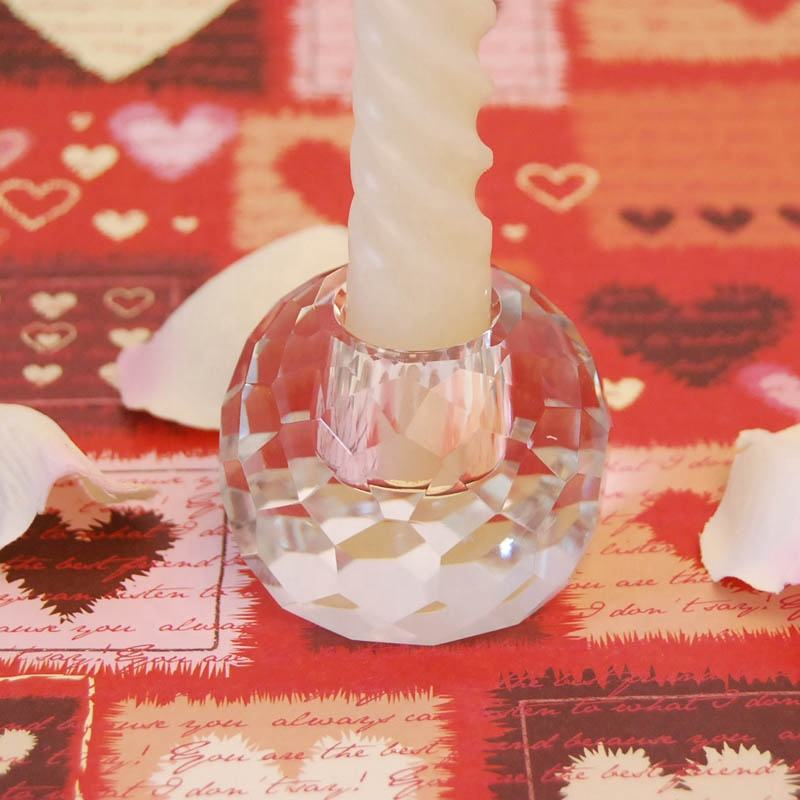 Top grade clear crystal candle holder K9 glass candlestick for table centerpiece home decoration