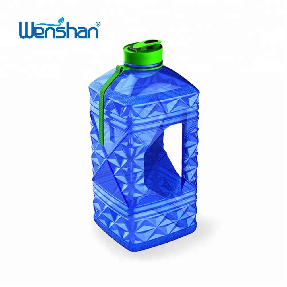 Wholesale BPA FREE protein shaker bottle 2.2l diamond shape water bottle