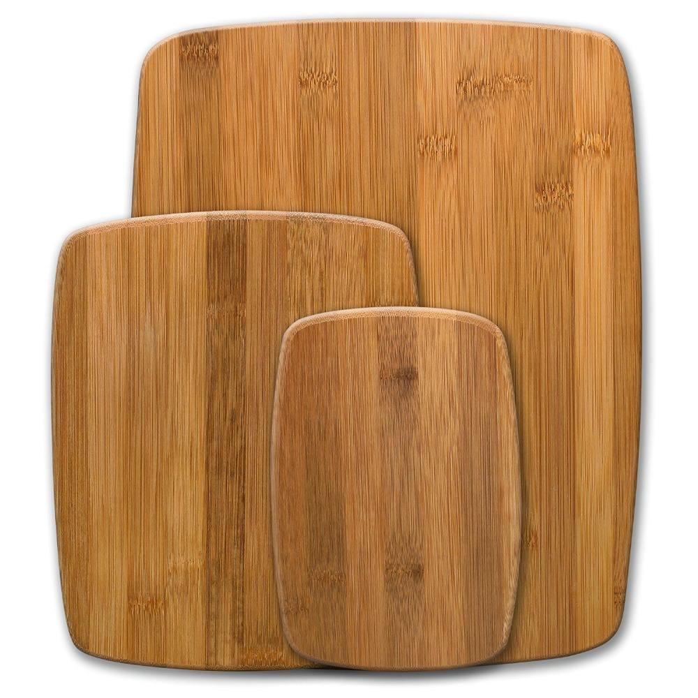 Hot selling products custom wooden cutting board made of 100% natural bamboo