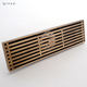 Bathroom accessory bronze brush finish long shower linear floor drain
