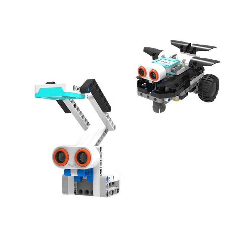Assemble Educational Science Educational robot Toy Educational Electronic Block Set MOQ 200 pcs early educationaltoys coding rob