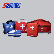 Red cross medical first aid kit for emergency use