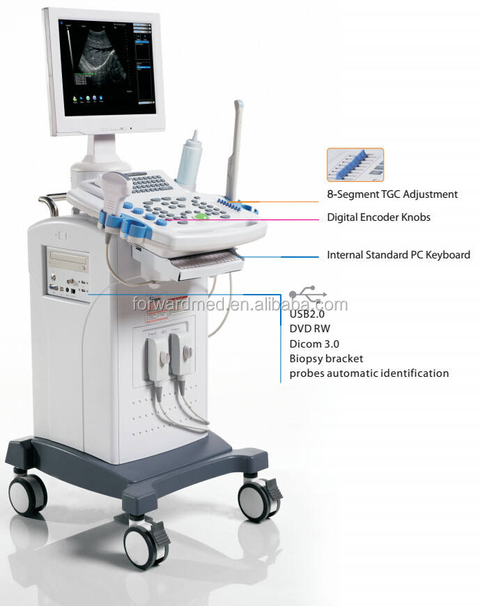 "15""LED Trolley Diagnostic System best price ultrasonic ultrasound machine factory"