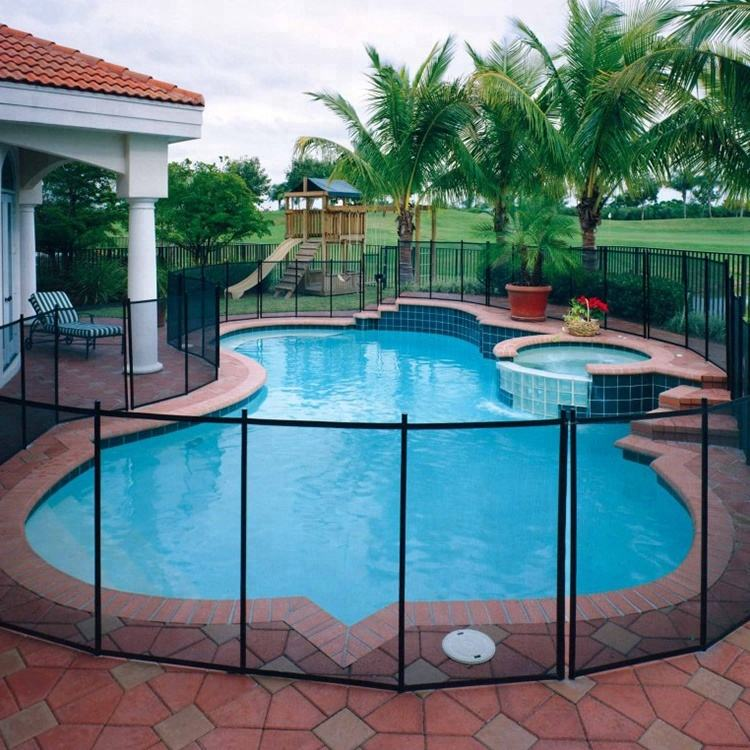 4'*12' High Quality Retractable Kids Baby Safety Used Portable Stainless Steel Mesh Pool Fence