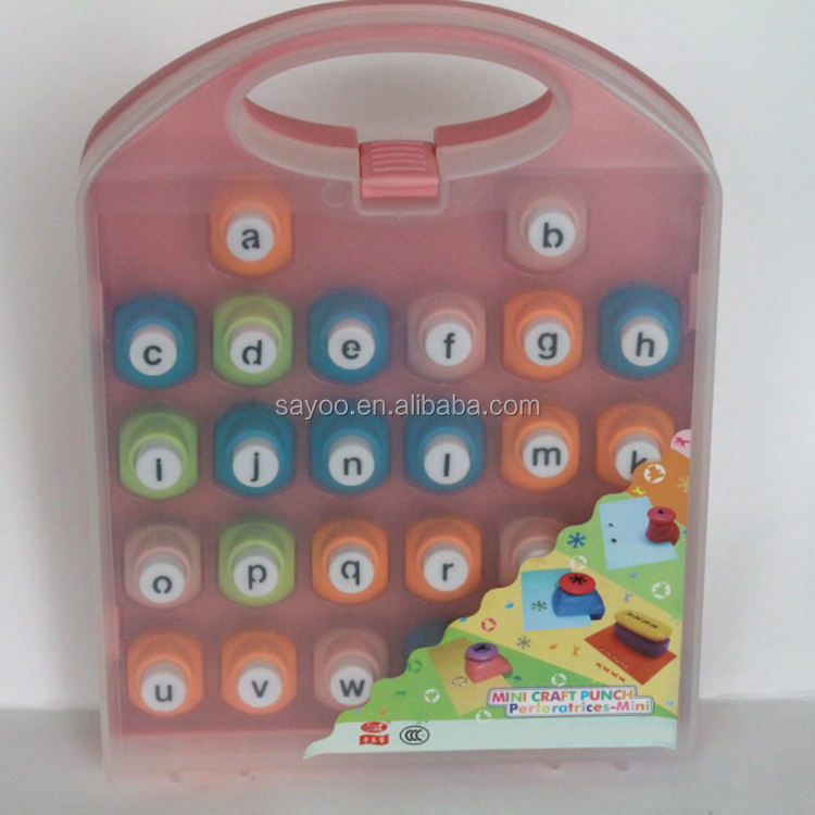 Hot sale Mini Craft Punch Lowercase Alphabet punch Set