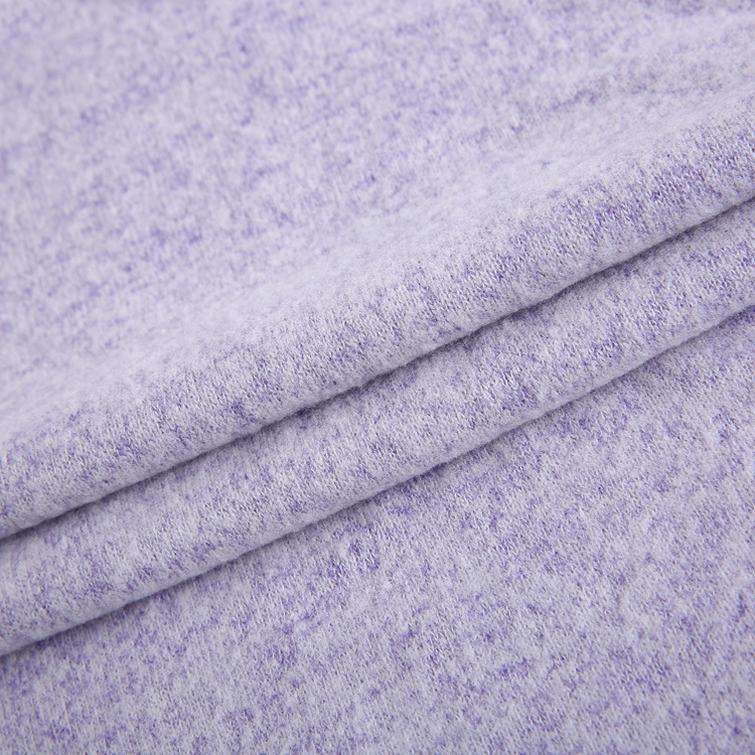 China suppliers RT brushed loose knitting clothing material sweater fleece fabric fleece