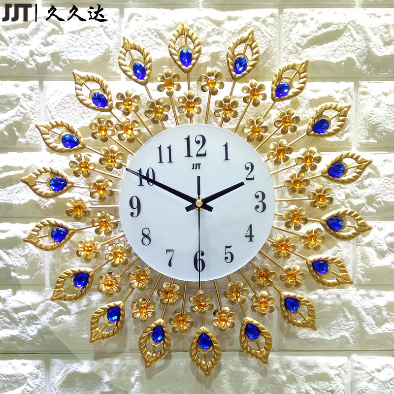 Wholesale Customized Small Sweep Movement Metal Decorative Attractive Wall Clock Gold