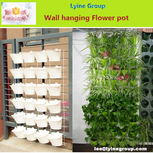 Plastic Semicircular Flowerpot with Interlayer Hanging on The Wall