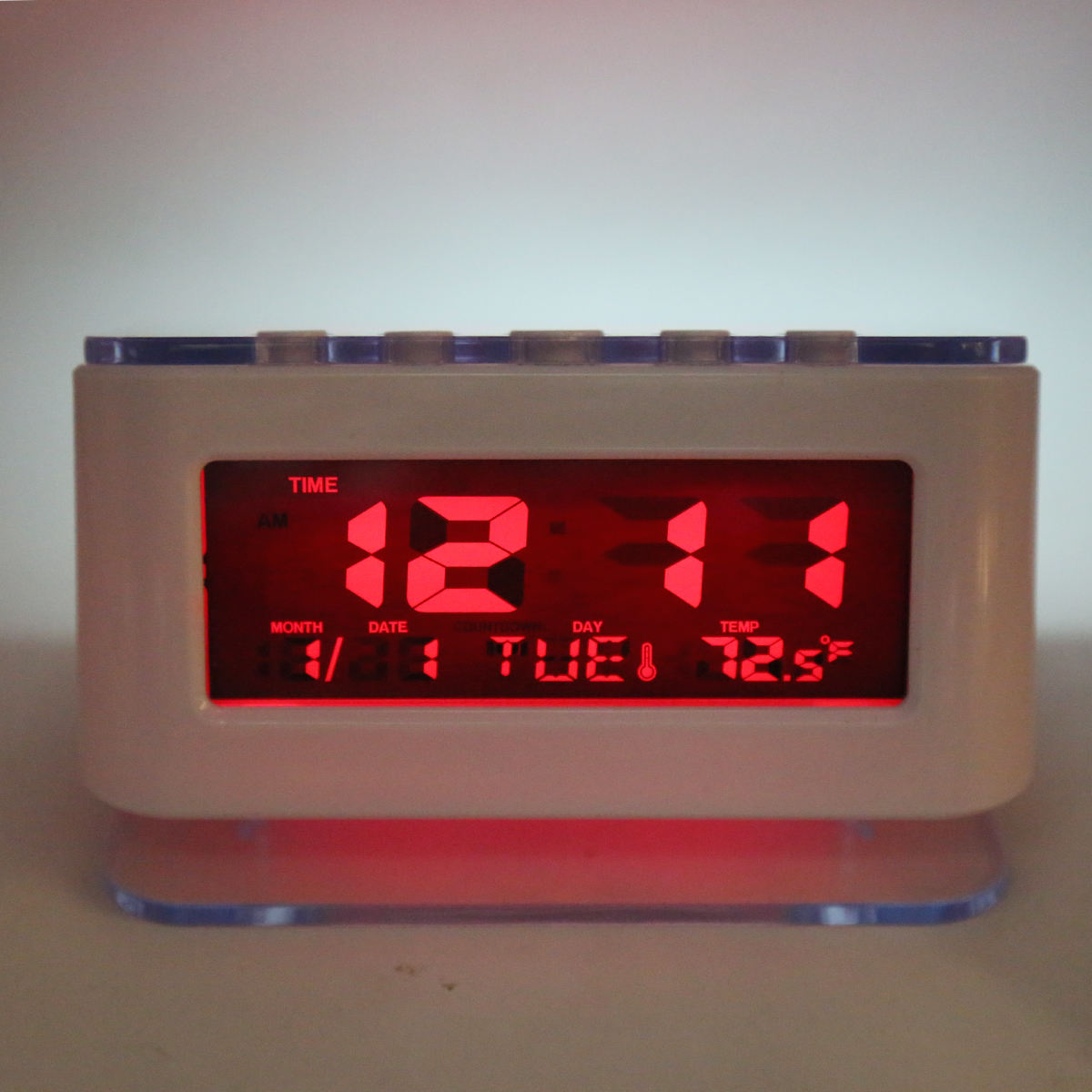 Smart Multifunction LED Display Temperature Calendar Desk Alarm Clock Temperature Table Snooze Alarm Clock with Snooze Function