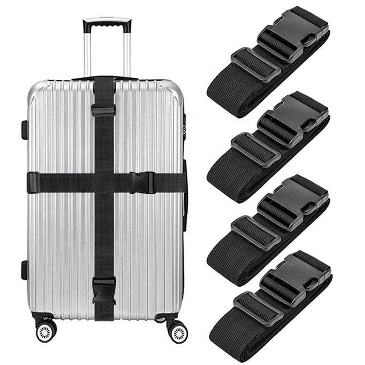 Suitcase Belts Travel Accessories Attachment Adjustable Bag Straps Heavy Duty Nylon Bungee Multi-colors Luggage Strap Add A Bag