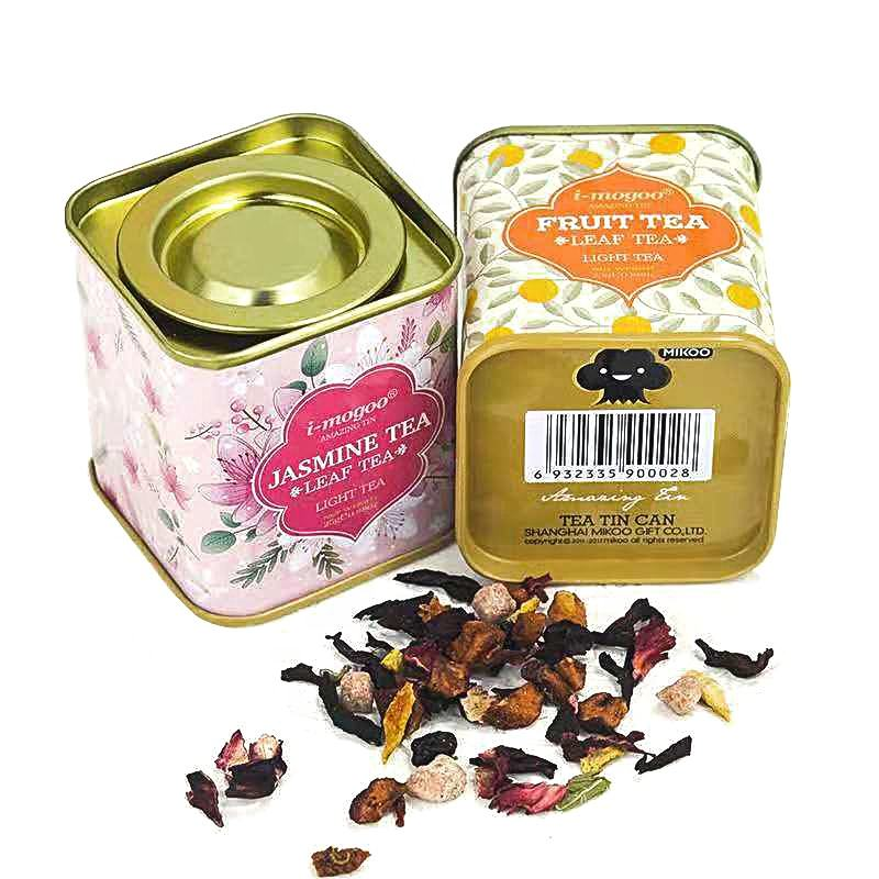 Custom Portable Vintage Metal Tea Tin Cans With Lid For Wedding Birthday Company Gift Package