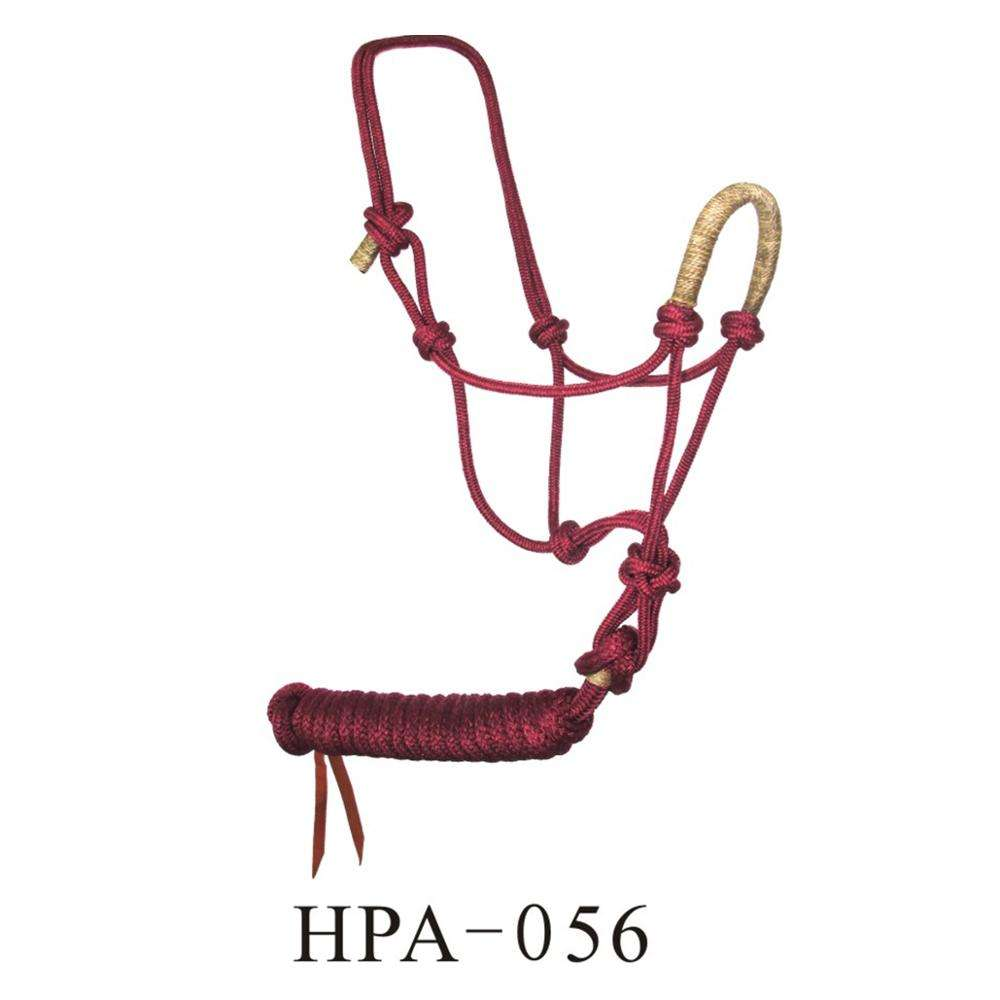 Braided Nylon Horse Halter & Lead In Various Color
