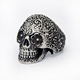 China factory cheap wholesale fashion men stainless steel skull military ring