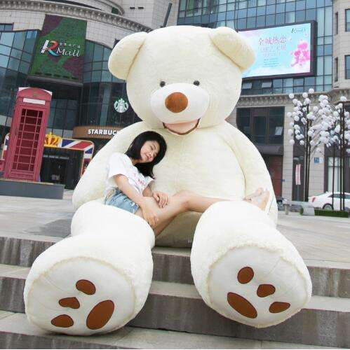 Wholesale Teddy Bear Huge 93inch American Giant Bear Skin/ Giant Teddy Bear Good Quality Factory Price Soft Toys For Girls
