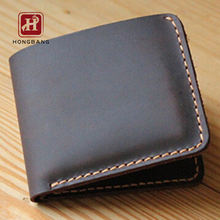 Handmade vintage genuine leather bifold wallet leather for men